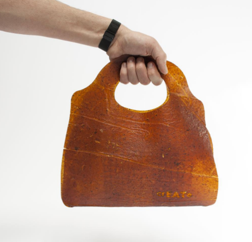 leather made out of vegetable waste