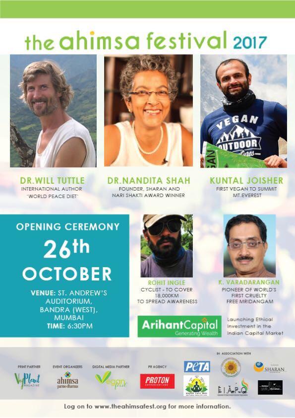 The ahimsa Festival 2017 Flyer